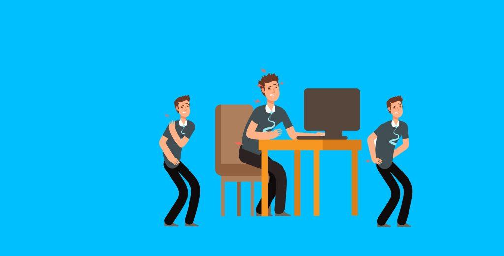Os 7 maiores riscos ergonômicos no ambiente de trabalho